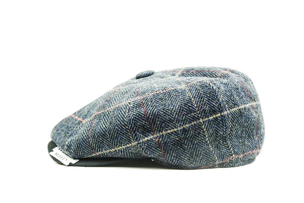 Shelby cap deluxe blue-brown