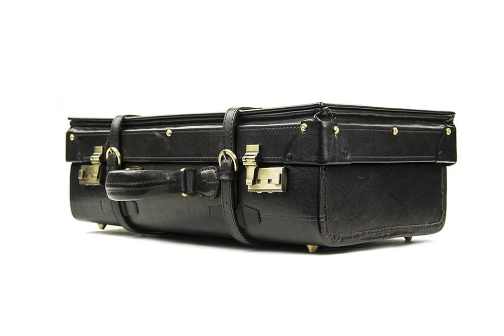 Shelby Briefcase - Italian Leather - Big  dark-Brandy