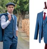 3-piece tweed suit  Blue Estate Herringbone