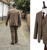3-piece tweed suit  Traditional Brown Estate Herringbone