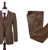 3-piece tweed suit Country Brown Windowpane