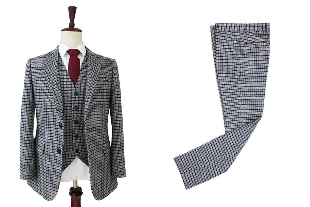 3-piece tweed suit   Houndstooth