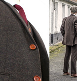 3-piece tweed suit  Dark Brown Herringbone