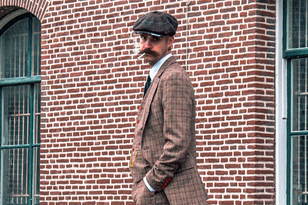 3-piece tweed suit  Brown & Beige Prince of Wales