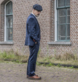3-piece tweed suit Navy Overcheck Twill