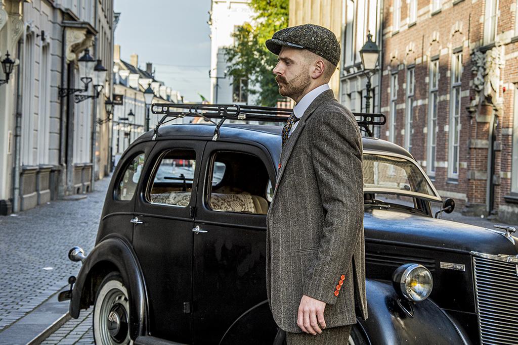 3-piece tweed suit Country Estate Herringbone Green Tweed