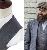 3-piece suit Grey Herringbone Red Check Tweed