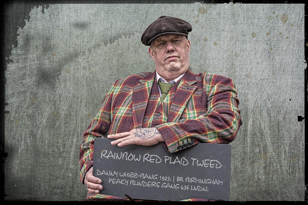 3-piece suit  Rainbow Red Plaid tweed