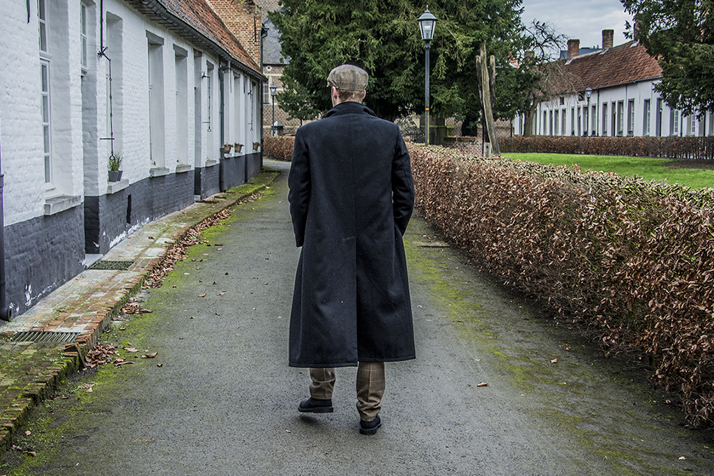 1920 Shelby Long Black Overcoat