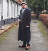 1920 Shelby Long Navy Overcoat