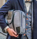 Thomas - Tweed Laptop Bag Blue