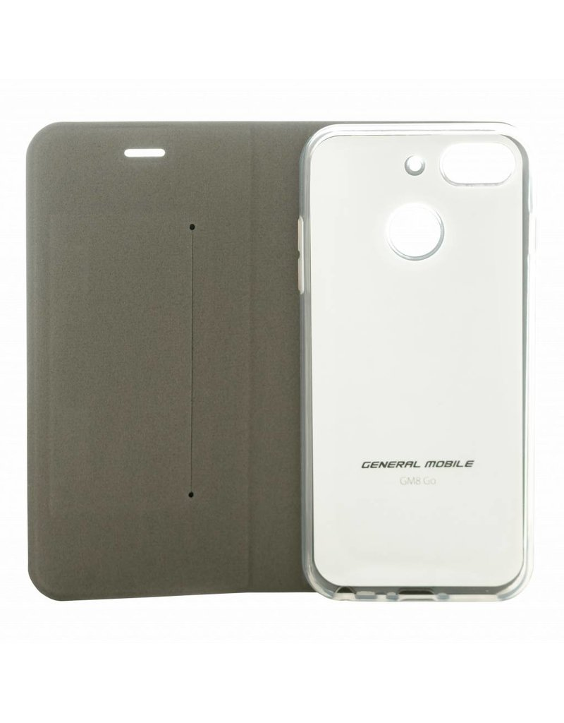 General Mobile Android One GM 8 Folio Booklet Case - Black