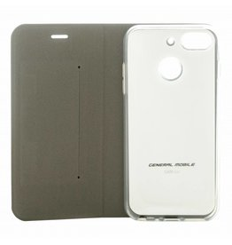 General Mobile Android One GM 8 Folio Booklet Case - White