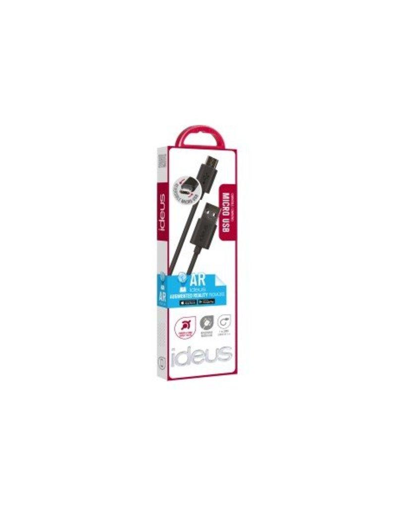 Ideus IDEUS CABLE DATA MICRO USB REVERSIBLE BLACK