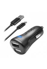 Ideus IDEUS CAR CHARGER DUAL 34 + USB-C CABLE BLACK