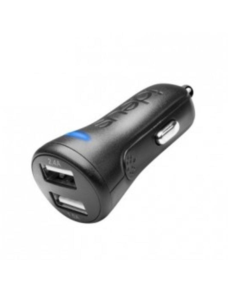 Ideus IDEUS CAR CHARGER DUAL USB 2.4Ah + 1Ah BLACK