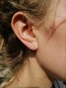Tiny earth ear stud Talamh, gold plated