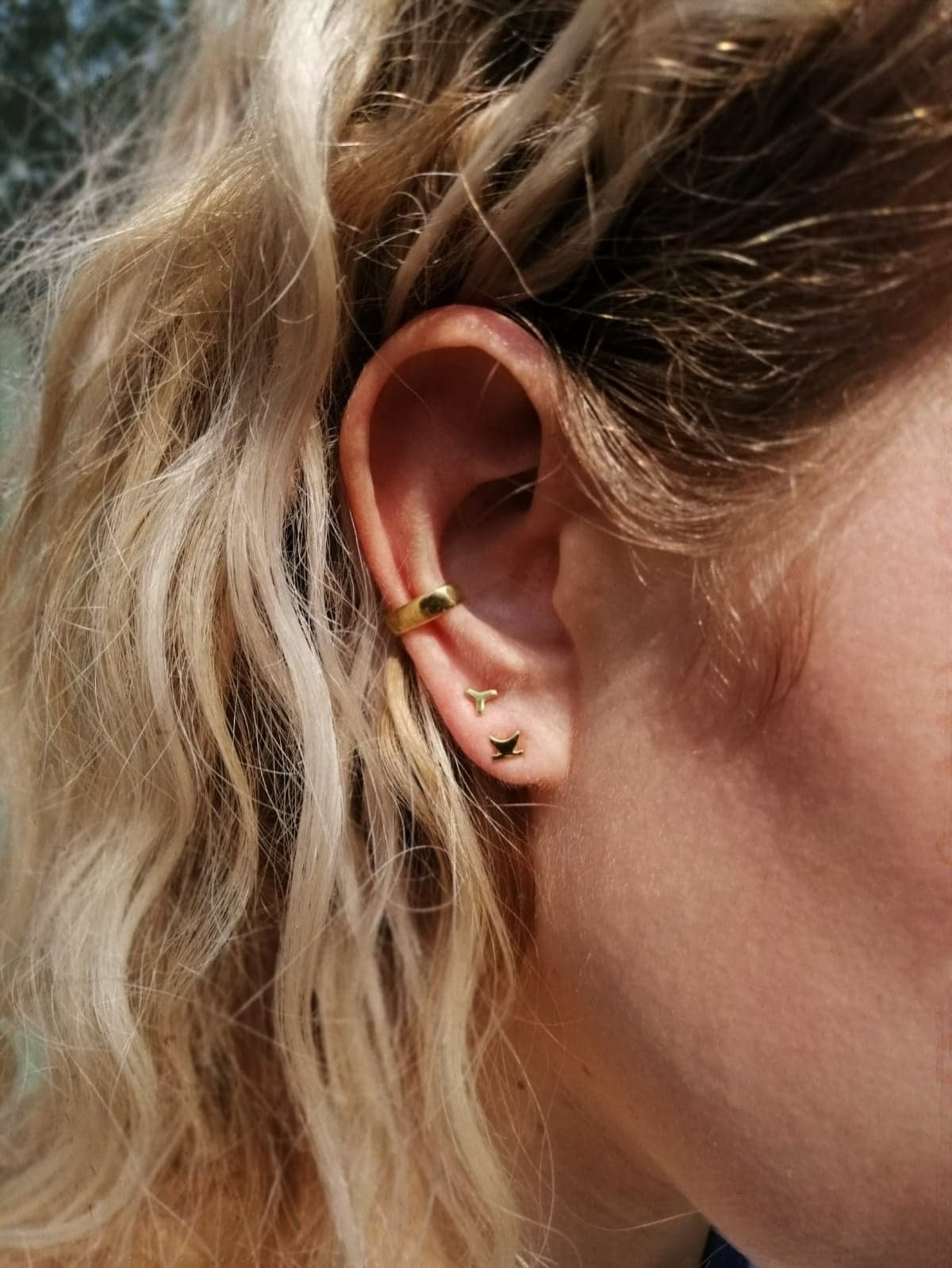 Ear Stud Gaelach Gold Plated