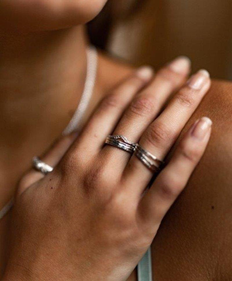 Zilveren Stacked Ring Juji