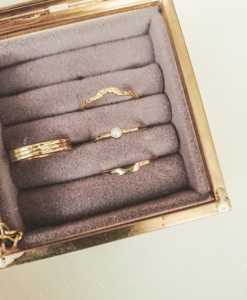 Gold Plated Stacked Ring Juji