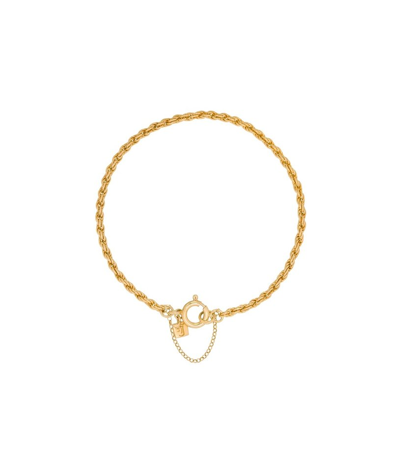 Twisted Bracelet Makana, Gold Plated