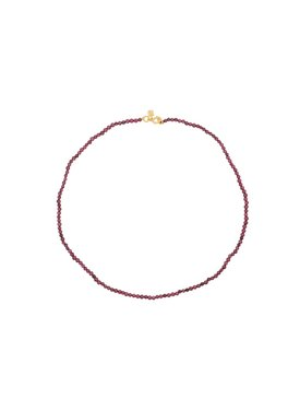Red Garnet Necklace Uilani, Gold Plated