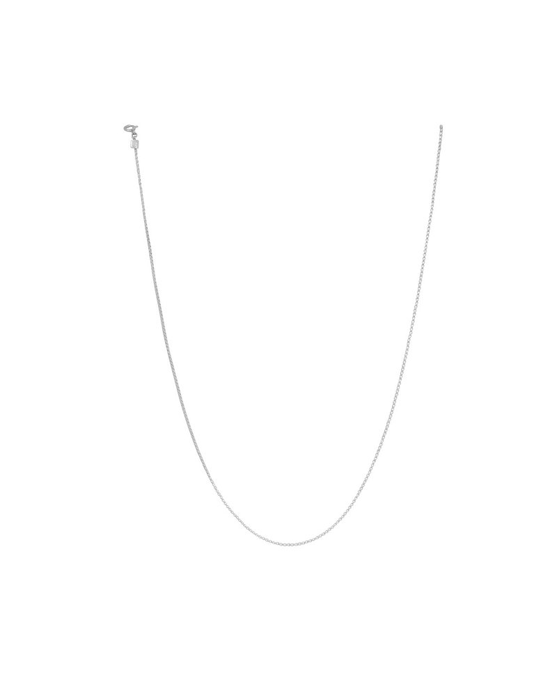 Square Snake Chain Necklace Lesedi, Silver