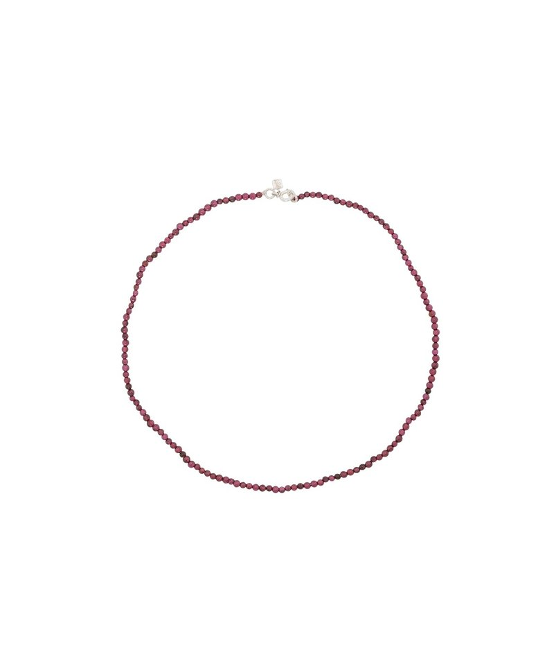Red Garnet Necklace Uilani, Silver