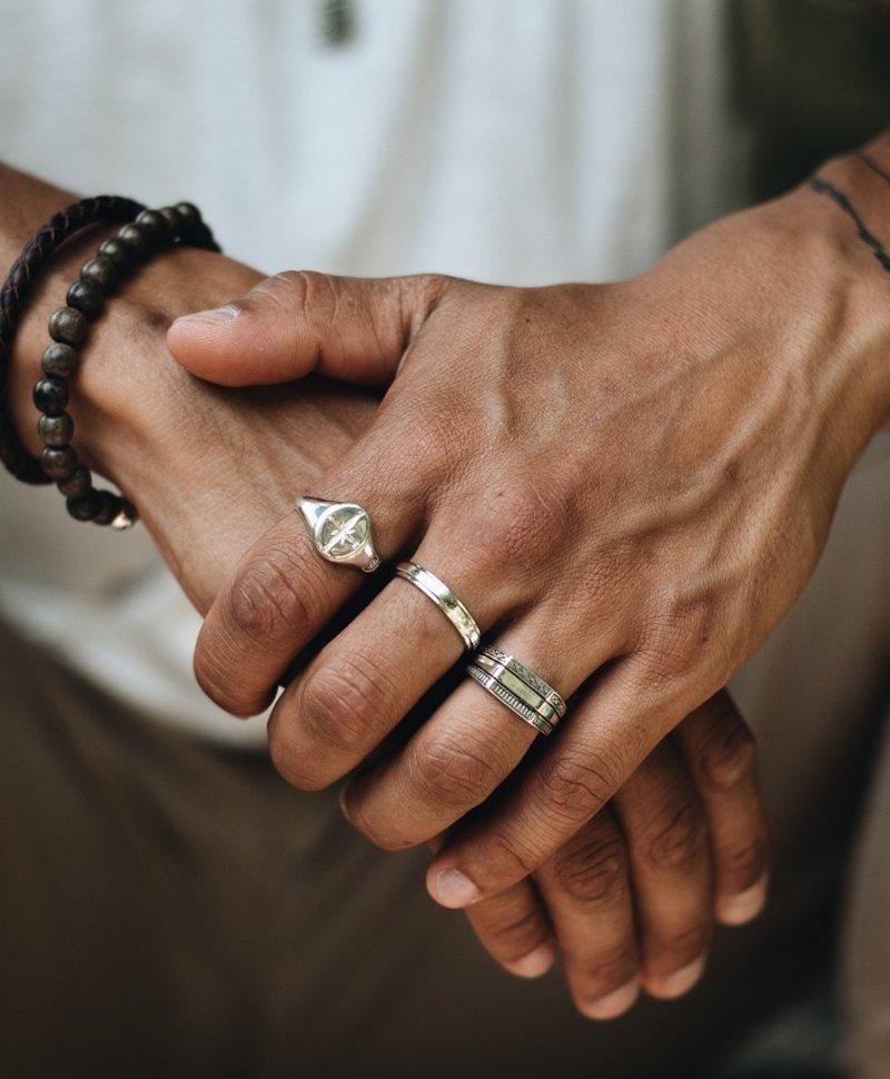 Zilveren Mannen Ring Akamu