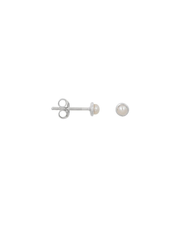Single Pearl Ear Stud Zeltzin, Silver