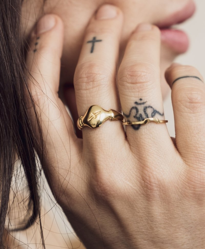 Gold Plated Fijne Stackable Ring Elgiva