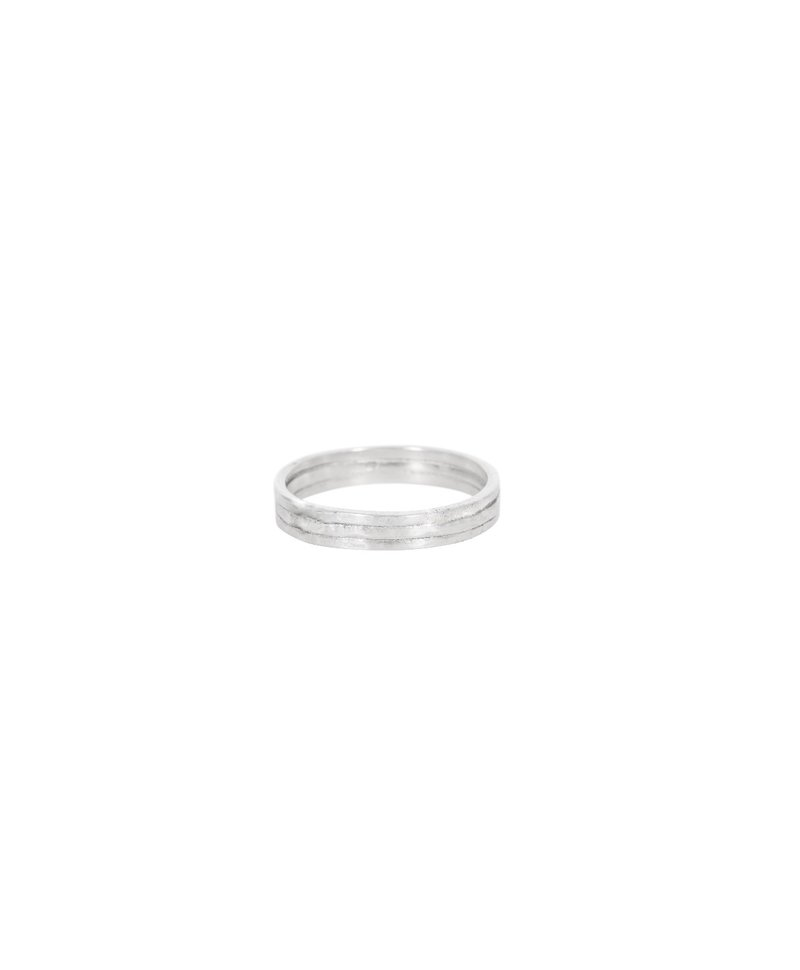 Stacked Ring Juji, Silver