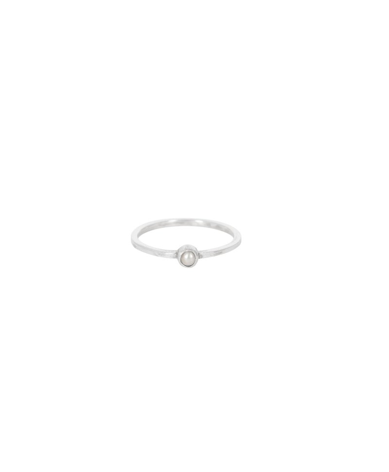 Stackable Pearl Ring Keala, Silver