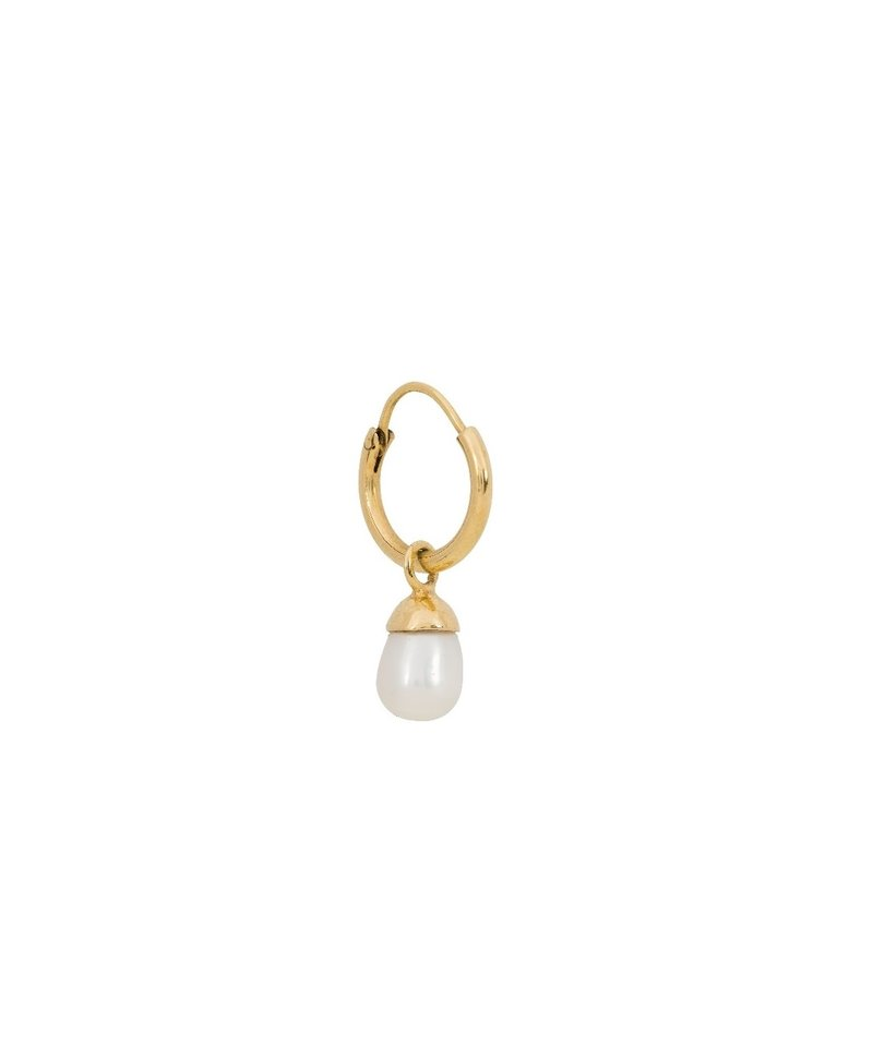 Single Classic Pearl Earring Efa, Gold Plated