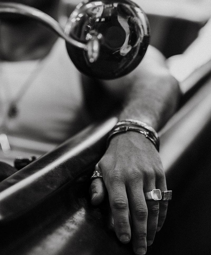 Zilveren Mannen Zegelring Met Bruine Steen Lincoln