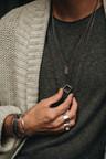 Zilveren Patroon Cuff Armband Mannen Pamir