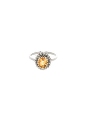 Yellow Citrine Ring Athena, Silver