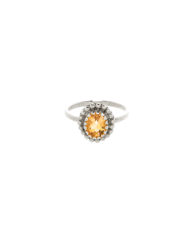 Zilveren Ring Met Citrien Athena