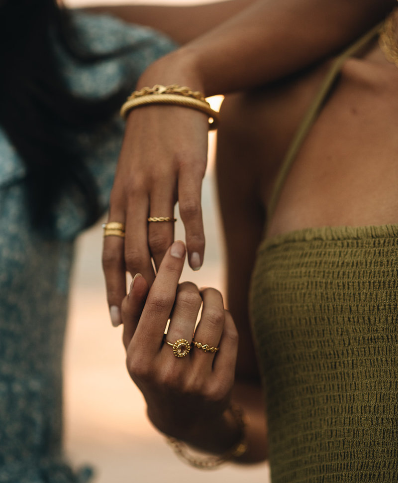 Gold Plated Ring Met Citrien Athena
