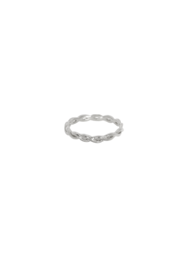 Braided (Pinky) Ring Hera, Silver