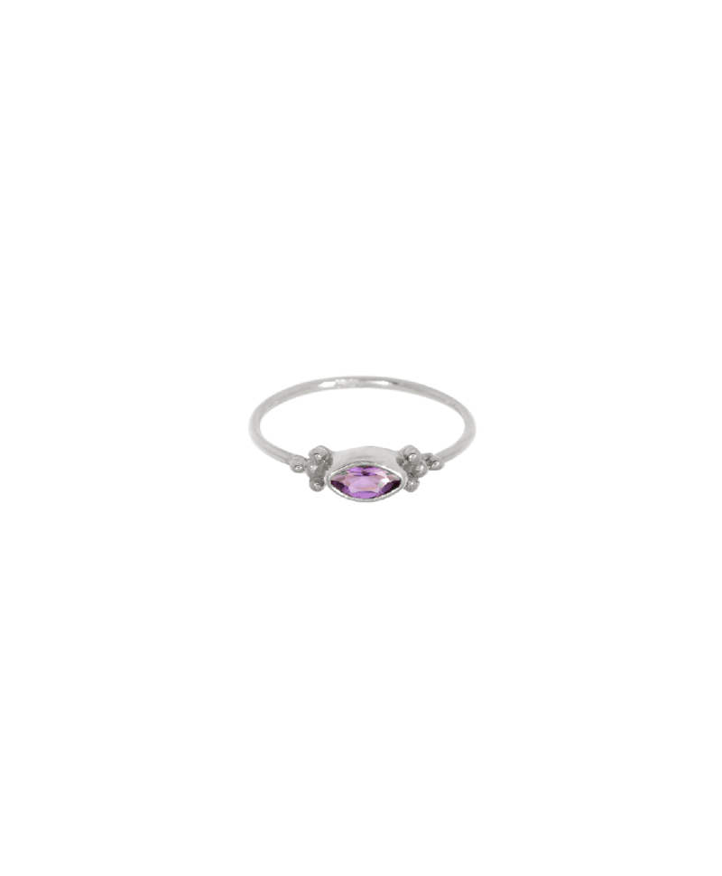 Amethyst Ring Ianthe, Silver