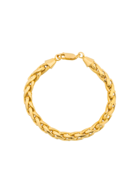 Braid Bracelet Siren, Gold Plated