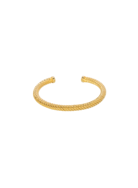 Twisted Cuff Hemera, Gold Plated