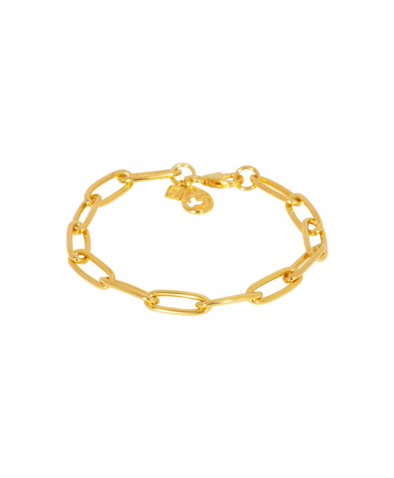 Gold Plated Armband Met Ohm Bedeltje Melpomene