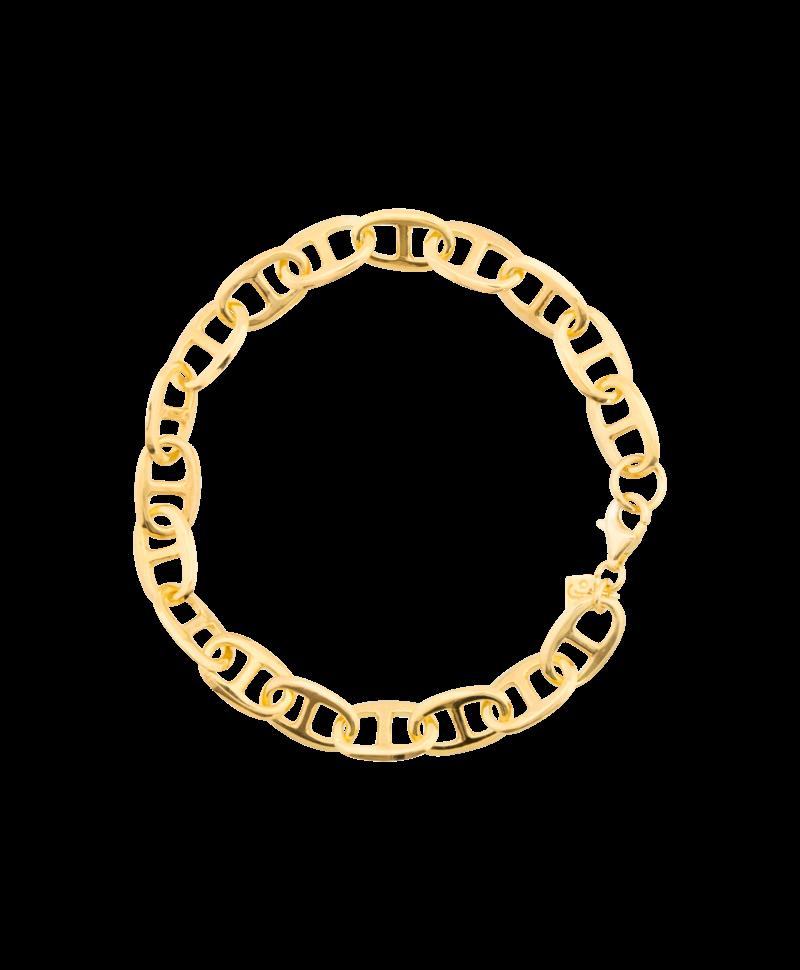 Gold Plated Vintage Schakelarmband Dione