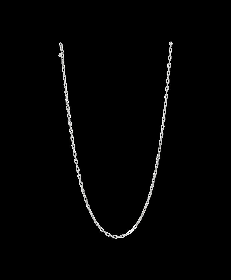 Modest Chunky Necklace Erato, Silver