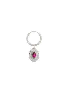 Pink Ruby earring Demeter, Silver