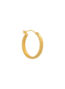 Single Big Twisted Hoop Ariadne, Gold Plated