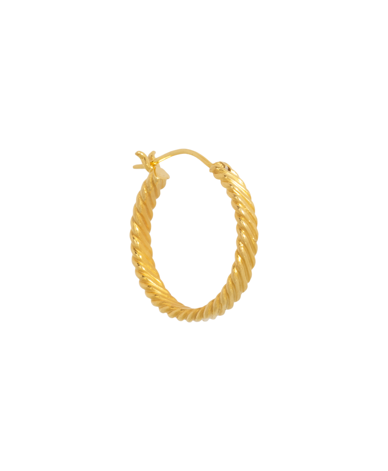 Big Twisted Hoop Ariadne, Gold Plated