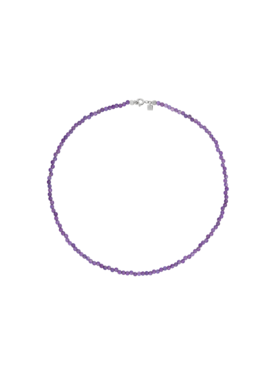 Amethyst Bead Necklace Idaia, Silver